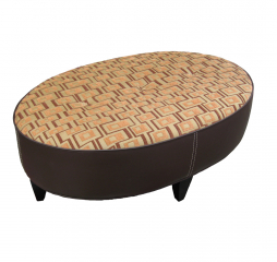 Main St Oval Ottoman by Omnia