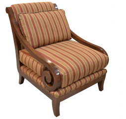Mansfield Exposed Wood Accent Chair by Omnia