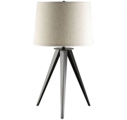 Industrial Black and Light Gray Tripod Base Table Lamp by Coaster