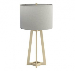 White and Gold Drum Shade Table Lamp by Coaster