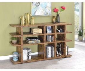 Rustic Low Profile Bookcase by Coaster