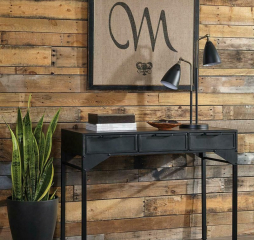 Black Three Drawer Rectangular Console Table by Coaster