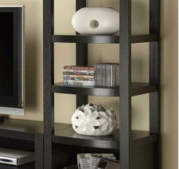 Transitional Contemporary Cappuccino Media Tower by Coaster