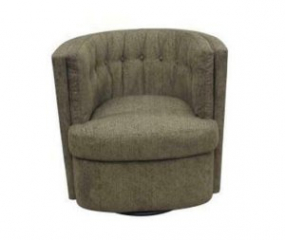 Recessed Arm Tufted Back Swivel Chair by Coaster