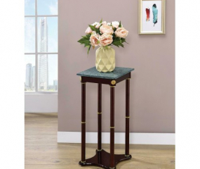 Traditional Merlot Marble Top Accent Table by Coaster