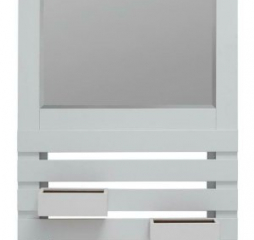 White Rectangular Mirror w/ Two Boxes by Coaster