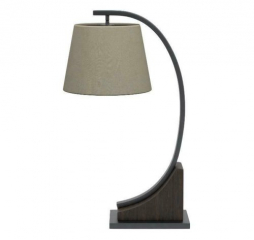 Oatmeal Brown and Orb Empire Shade Table Lamp by Coaster