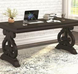 Iron Creek Trestle Base Rectangular Writing Desk by Coaster