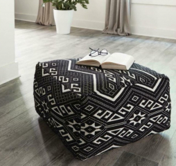 Black and White Accent Stool by Coaster