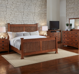 Mission Hill Slat Bed by A-America