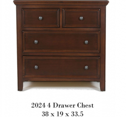 Monroe Kids Bedroom Four Drawer Chest by North American Wood