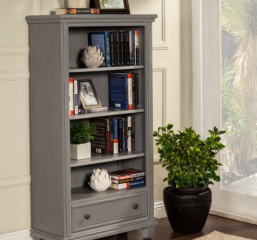 City Bookcase w/ One Drawer and Three Adjustable Shelves by North American Wood