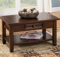 Kona Coffee Table w/ One Drawer by North American Wood