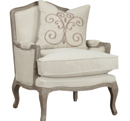 Salerno Chair-Sand W1 Pillow by Emerald Home Furnishings