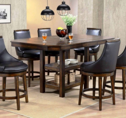 New Haven 54″ Pub Table w/ 18″ Butterfly Leaf by Urban Styles