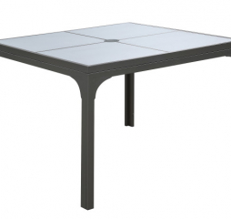 Monterey 42″ Square Outdoor Dining Table w/ Umbrella Hole by Emerald Home Furnishings