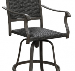 Alderbrook Swivel Wicker Barstool by Emerald Home Furnishings