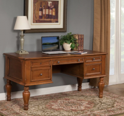 Hepburn 64″ Executive Writing Desk by North American Wood