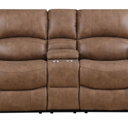 Spencer Motion Console Loveseat by Emerald Home Furnishings