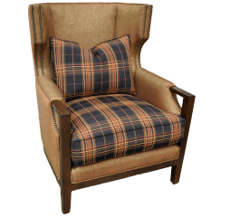 Paloma Exposed Wood Accent Chair by Omnia