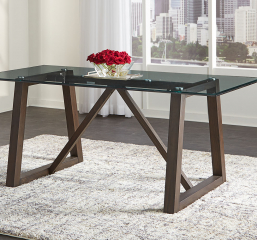 Palm Canyon Trestle Glass Table w/ 72″ Top by A-America