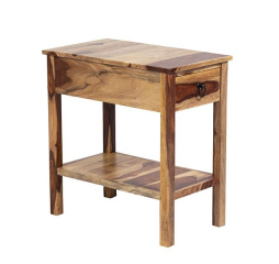 Sheesham Accents Chairside End Table by Porter