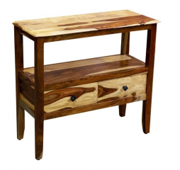 Sheesham Accents Two Drawer Console Table by Porter