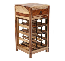 Sheesham Accents Wine Rack by Porter