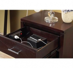 Nevis Nightstand w/ Charging Station by Modus