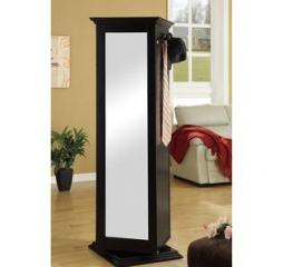 Casual Black Swivel Accent Cabinet w/ Cork Board by Coaster