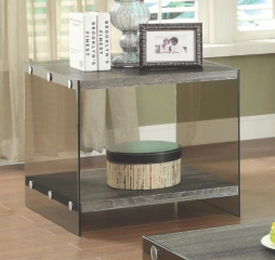 End Table w/ Glass Sides by Coaster