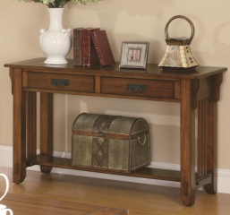 Two Drawer Sofa Table w/ Shelf by Coaster