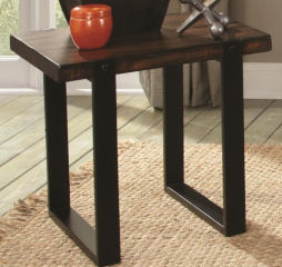 End Table with Two Tone Finish by Coaster