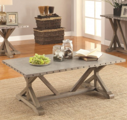 Rectangular Nailhead Trim Coffee Table by Coaster