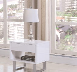 Rectangular End Table with Drawer and Shelf by Coaster