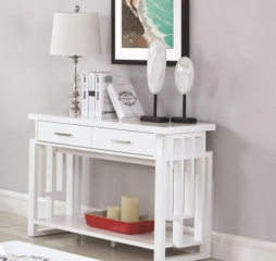 Contemporary Sofa Table with Two Drawers by Coaster