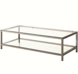 Black Nickel Coffee Table by Coaster