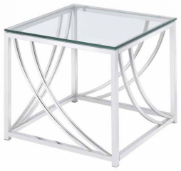 Modern Glass Top End Table by Coaster