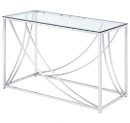 Modern Glass Top Sofa Table by Coaster