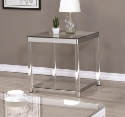 Contemporary Glass Top End Table with Acrylic Legs by Coaster