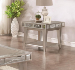 Bling Mirrored End Table by Coaster