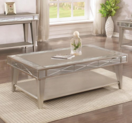 Bling Mirrored Coffee Table by Coaster