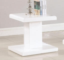 Contemporary End Table with Swiveling Top by Coaster