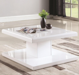 Contemporary Square Coffee Table with Swiveling Top by Coaster