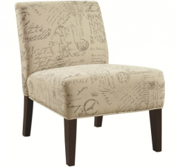 Seating Armless Accent Chair with Contemporary Furniture Style by Coaster