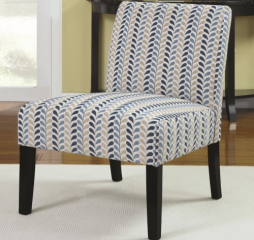 Armless Accent Chair with Contemporary Furniture Style by Coaster