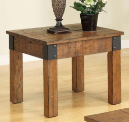 Distressed Country Wagon End Table by Coaster
