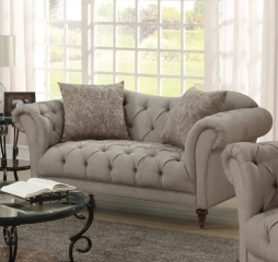 Alasdair Upholstered Loveseat with Button Tufting by Coaster