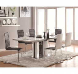 Broderick 63″ Dining Table w/ 24″ Leaf by Coaster