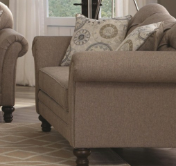 Carnahan Traditional Loveseat with Turned Legs and Rolled Arms by Coaster